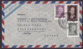 Argentina Airmail Via Aerea Deluxe BUENOS AIRES 1953 Cover Frontside Only HELSINGBORG Sweden Suecia 3 Eva Peron Stamps - Posta Aerea