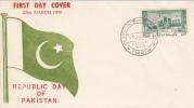 PAKISTAN FDC MICHEL 82 REPUBLIC DAY OF PAKISTAN - Pakistan