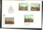 SAINT MARIN Lettre FDC  Yvert  Série 779 à 781 - Canaletto Venise - Art Peinture - Lettres & Documents