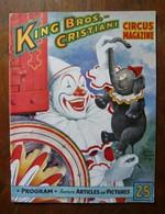 Programme De Cirque De King Bros. & Cristiani Circus Season 1953 - Other