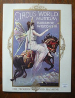 Programme De Cirque Circus World Museum, Baraboo, Wisconsin 1996 - Other