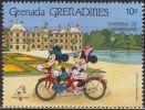 Granada Granadinas 1989 Scott 1062 Sello ** Walt Disney Jardines De Luxemburgo 10c Grenada Grenadines Stamps Timbre - Disney