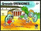 Granada Granadinas 1988 Scott 0942 Sello ** Walt Disney Juegos Olimpicos Corea Seul Sobrinos Donald Carrera Hoplite 4c - Disney