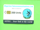 NIGERIA - Chip Phonecard 200 Units Reverse Sateliite Dish