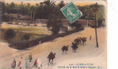 20659 Scenes Et Types Caravane Route Biskra Touggourt E.S. 2046 - Tampon Régiments Zouaves Franchise Militaire - Algérie