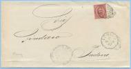 1887 VENETO LONIGO (VICENZA) ANNULLO NUMERALE SBARRE UMBERTO C. 10 ISOLATO PIEGO 9.5.87 OTTIMA QUALITÀ (DC3863) - 1878-00 Umberto I