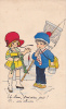 20660 Dessin Enfant Peche Marin Poisson ; Pris Rhume -Monique -france Série 11 (Marguerite?) - Pêche