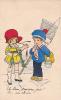20660 Dessin Enfant Peche Marin Poisson ; Pris Rhume -Monique -france Série 11 (Marguerite?)