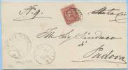 1888 VENETO STANGHELLA (PADOVA) ANNULLO NUMERALE SBARRE UMBERTO C. 10 ISOLATO PIEGO 28.2.88 OTTIMA QUALITÀ (DC3867) - 1878-00 Umberto I