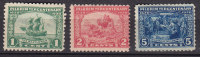 United States 1920 Mi. 255-57 Landung Der Pilgerväter (Puritaner) Halbinsel Cape Cod Bei Plymouth Complete Set MH* - Unused Stamps