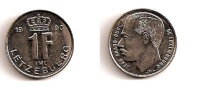 1 Franc – Luxembourg – 1990 – Nickel Acier – Etat SUP – KM 63 - Luxembourg