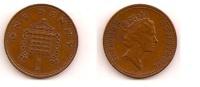 1 Penny – Grande Bretagne – 1986 – Elizabeth II – Bronze – Etat TTB – KM 935 - 1 Penny & 1 New Penny