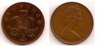2 New Pence – Grande Bretagne – 1971 – Elizabeth II – Bronze – Etat TTB – KM 916 - 1971-… : Monete Decimali