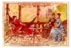 Chromo Pour Biscuit Pernot, Dijon, Thèmes: Femmes, Thé - Pernot