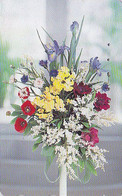 Télécarte Japon / 110-159534 - Fleur Bouquet - IRIS - Flower Bunch Japan Phonecard - Blume Telefonkarte - 1473 - Fleurs