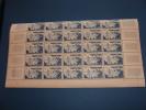 N° 1038 En Demi  Feuille De 25  Timbres Neuf** - Full Sheets