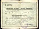Driver's License   Führerschein     YUGOSLAVIA     1936 - Historische Dokumente