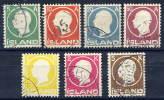 ICELAND 1912 Frederik VIII Definitive Set Used.  Michel 69-75 - Used Stamps