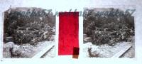 $3E19- WWI - Deposito Proiettili 280 Per Obici Presso Boschini - Vera Diapositiva Stereo In Vetro - Diapositiva Su Vetro