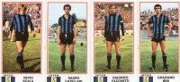 Inter- Giocatori- Figurine Panini 1974 /75..165-174-175-168 - Panini
