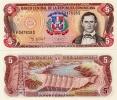 DOMINICAN REP.    5 Pesos Oro      P-147a      1995      UNC - Dominicana