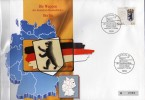 TK O 393/92 Wappen Hauptstadt Berlin ** 25€ Auf Brief Deutschland With Stamp # 1588 Tele-card Wap Cover Of Germany - Deutschland
