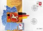 TK O 316/93 Wappen Reizvolles Niedersachsen ** 25€ Auf Brief Deutschland With Stamp #1662 Tele-card Wap Cover Of Germany - Deutschland