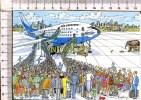 L136 -    AIR SARDINUS -  Carte Humoristique  -   D'après Illustration  :  FUTUR.... - Avions