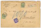 België:  Aangetekende Brief Gand Gent > Haarlem Nederland  1892, Mix Frankering