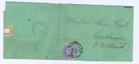 België:   Vouwbrief  Brussel  -> Enkhuizen  Nederland 1870,  OBP 31 - 1869-1883 Léopold II