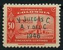 Colombie ** N° 403Aa Surcharge Verte - 5èmes J.O. - Colombia