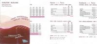 Horaire De Poche - Thalys - 2008 - Europe