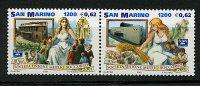 Saint Marin ** N° 1771/1772 Se Tenant - 125e Ann. De La Sté Mutuo Soccoro - Usati