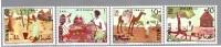 SOMALIA REPUBBLICA SOMALILAND SOMALY 1966 ARTE SOMALA  4 Val Compl. MNH** - Disfraces