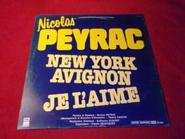 NICOLAS PEYRAC   °  JE L'AIME   / NEW YORK AVIGNON    MAXI  PROMO - 45 Rpm - Maxi-Single