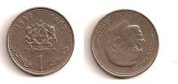 1 Dirham – Maroc -1407-1987 – Hassan II – Cupro Nickel – Etat TTB – KM 88 - Marruecos