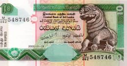 SRI LANKA 10 RUPEES 1990 PICK # 96 UNC. - Sri Lanka