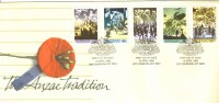 FDC 1990 The ANZAC Tradition Set Of 5 FDI 12 April 1990 Canberra Postmark  Unaddressed Cover - Premiers Jours (FDC)