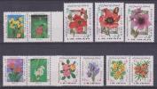 IRAN LOTE DE 11 SELLOS NUEVOS  FLOWERS   S-236 - Vegetales