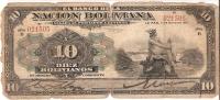 BILLETE DE BOLIVIA DE 10 PESOS BOLIVIANOS DEL AÑO 1911 (RARO)  (BANKNOTE) - Bolivia