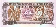 BILLETE DE MOZAMBIQUE DE 5000 METICAIS DEL AÑO 1989 - NUEVO Y SIN CIRCULAR (BANKNOTE) - Mozambique