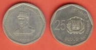 DOMINICAN REP 25 PESOS 2005 XF BUST OF GENERAL PUPERON - Dominicaine