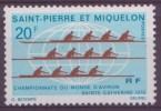 Saint-Pierre-et-Miquelon N°405** , Neuf Sans Charniere   Championnat Du Monde  D'aviron Ste Catherine - St.Pierre & Miquelon