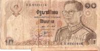 Billet De Banque/THAILANDE/ Valeur 10/ Roi En Buste/                                  BIL7 - Billets