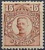 ZWEDEN 1911-14 15õre Roodbruin Gustav V Zonder WM PF-MNH-NEUF - Neufs