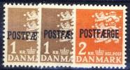 #Denmark 1950-72. Postfærge 3 Different. MNH(**) - Colis Postaux
