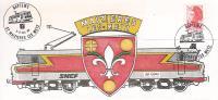 Trains: Enveloppe  Baptème  Maizieres Les Metz - Trains