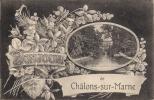 CPA  Fantaisie  (51)     Bonjour De..... CHALONS-sur-MARNE   - - Châlons-sur-Marne