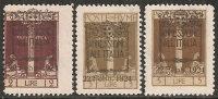 Fiume - Soprastampati Annessione All´Italia - 2 - 3 - 5 Lire * - 9. Occupazione 2a Guerra (Italia)