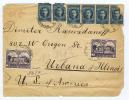 Bulgaria: Cover Sofia To USA, 1923, Mix Stamps, Some Tears - 1909-45 Koninkrijk